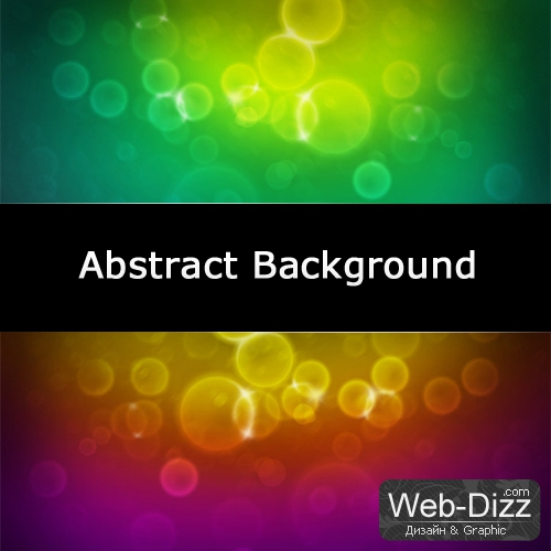 Abstract Background (круги, блики, пузырьки)