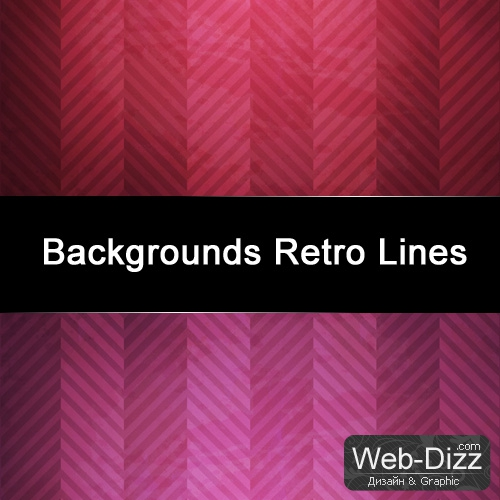 Grunge Backgrounds + Retro Lines