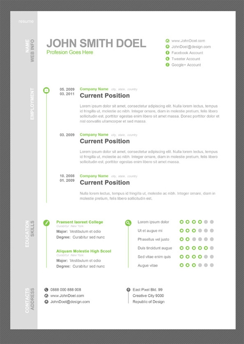 Resume PSD Templates